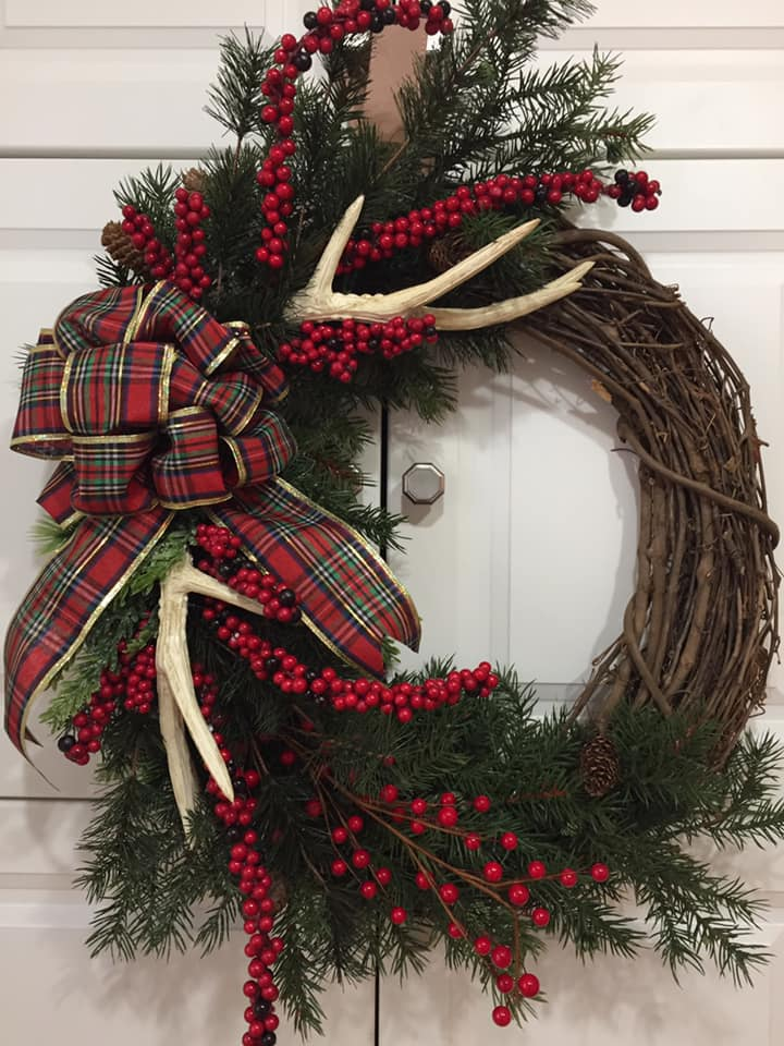 Decadent Designs Decor Sudbury Ontario Antler Ridge Christmas Wicker Wreath Home Decor