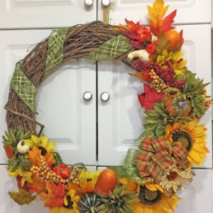 Decadent Designs Decor Sudbury Ontario Autumn Splendour Wreath Fall Decor