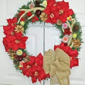 Decadent Designs Decor Sudbury Ontario Burlap Buck Wreath Home Decor