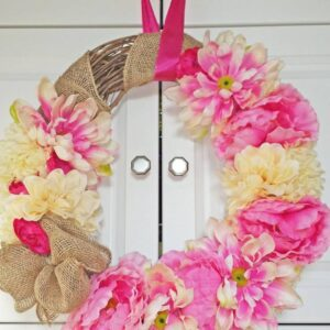Decadent Designs Decor Sudbury Ontario Burlap In Bloom Wreath Spring Home Decor