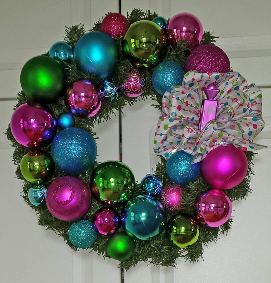 Decadent Designs Decor Sudbury Ontario Candy Confetti Wreath Home Decor