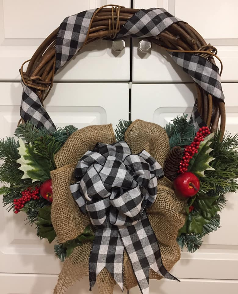 Decadent Designs Decor Sudbury Ontario Christmas in the Country Wicker Wreath Home Decor
