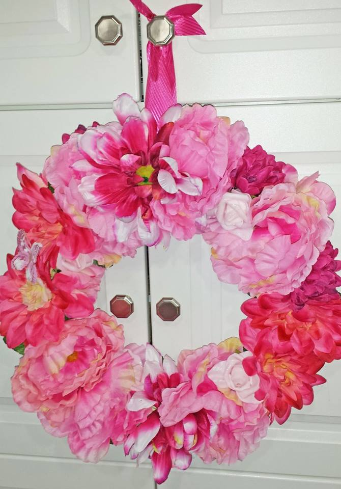 Decadent Designs Decor Sudbury Ontario Floral Fantasy Wreath Home Decor