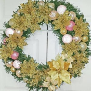 Decadent Designs Decor Sudbury Ontario Golden Blush Wreath Home Decor
