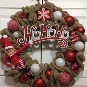 Decadent Designs Decor Sudbury Ontario Merry ELFmas Christmas Wreath Home Decor