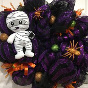 Decadent Designs Decor Sudbury Ontario Mikey Mummy Halloween Wreath Home Decor