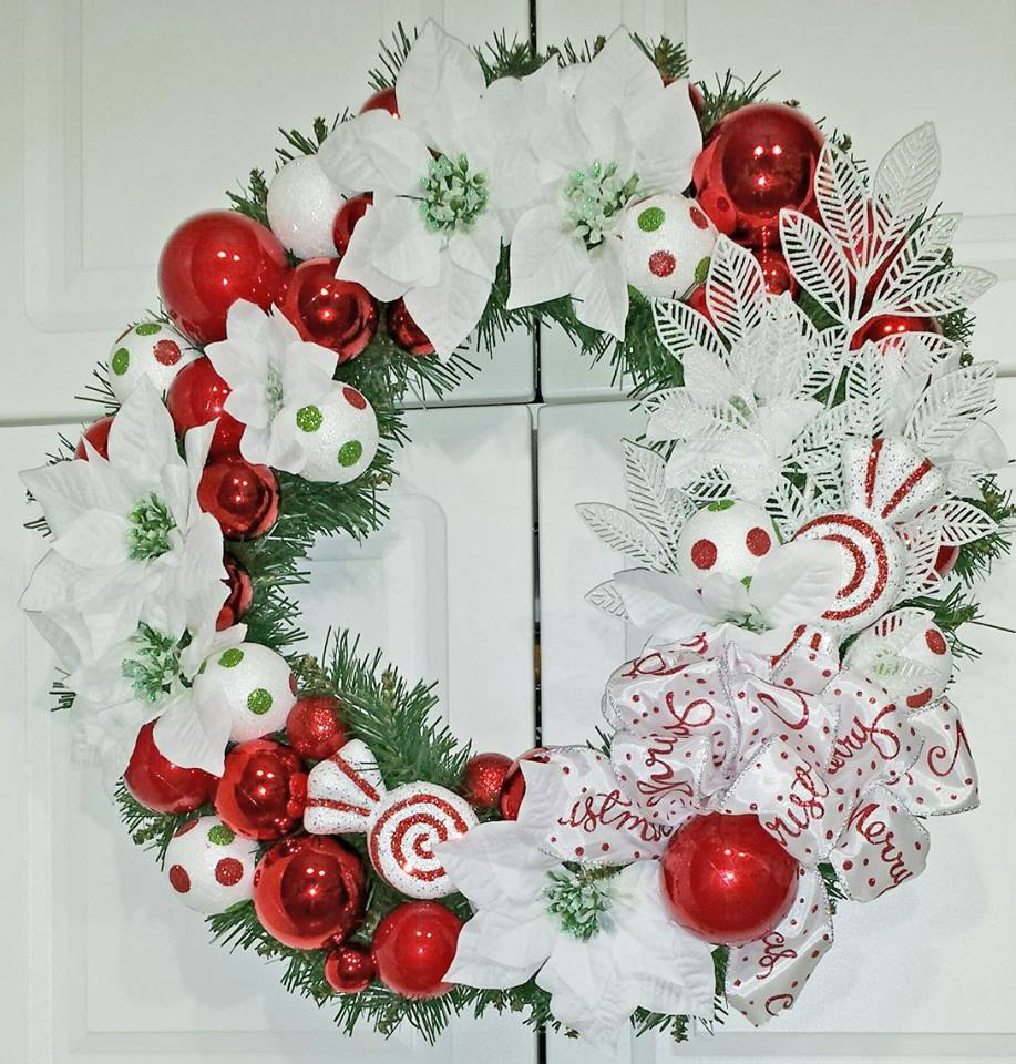 Decadent Designs Decor Sudbury Ontario Peppermint Playtime Wreath Home Decor