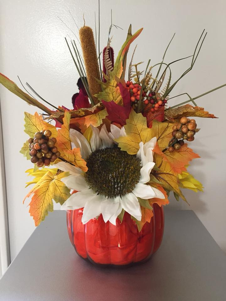 Decadent Designs Decor Sudbury Ontario Pumpkin Harvest Arrangement Decor