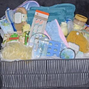 Decadent Designs Decor Sudbury Ontario Spa Time Serenity Blue Gift Basket