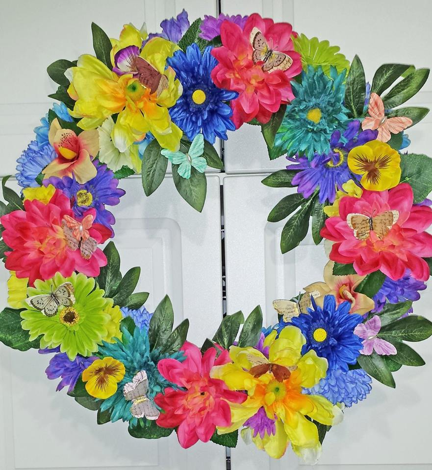Decadent Designs Decor Sudbury Ontario Spring Medley Wreath Home Decor