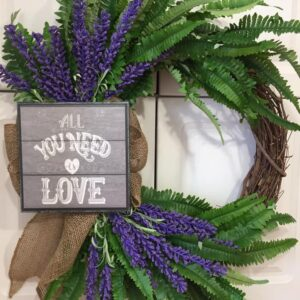 Decadent Designs Decor Sudbury Ontario Spring Time Love Wicker Wreath Home Decor