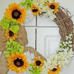 Decadent Designs Decor Sudbury Ontario Sunny Flower Wreath Home Decor