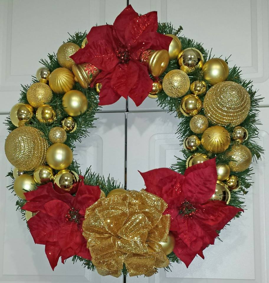 Decadent Designs Decor Sudbury Ontario Tidings of Christmas Wreath Home Decor