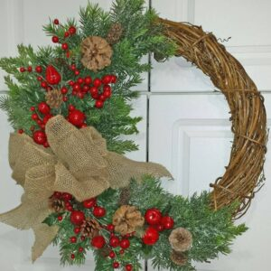 Decadent Designs Decor Sudbury Ontario Very Merry Berry Wreath Home Decor