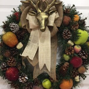 Decadent Designs Decor Sudbury Ontario Winter Pine Buck Wreath Home Decor